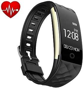 Fitness Armband, tigerhu Wasserdicht IP67 Fitness Tracker Aktivitätstracker mit Pulsuhren, Schlafmonitor, Kalorienzähler, Schrittzähler, Vibrationsalarm Anruf SMS Whatsapp Beachten kompatibel mit iPhone Android Handy.