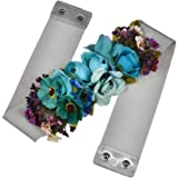 Mcaishen Cinturones De Flores para Mujeres Simulación De Phalaenopsis Cinturones Ultra Anchos Correas Decorativas Dulces Vest