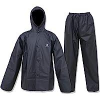 ZOEGO Tuta antipioggia ultra-lite per uomo donna Cappotto antipioggia protettivo impermeabile con pantaloni 2 pezzi…