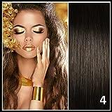Athenia Luxus- Futura Clip in Extensions Haarverlängerungen - 55 cm - XXL vollen Kopf ** 150 Gramm** hochwertigen futura Haar - Farbe 4 schokoladenbraun