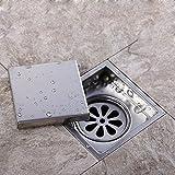 Edelstahl-Quadrat-Duschraum-unsichtbarer Boden-Abfluss mit Fliesen-eingebettetem Gitter-Deodorant-Tiefenwasser-Dichtung-Verdickung