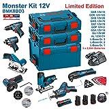 BOSCH Kit 12V BMK8BD3 (GSR 12V-15 + GDR 12V-105 + GKS 12V-26 + GWS 12V-76 + GST 12V-70 + GOP 12V-LI + GSA 12V-14 + GLI 12V-80 + 3 x 2,0Ah + AL1230CV + L-Boxx 238 + L-Boxx 136 + L-Boxx 102)