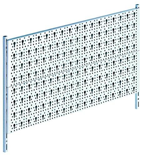 Element System Werkzeuglochwand aus Metall, Heimwerker-Grundset inklusive Schrauben und Dübel, weiß, 11300-00005