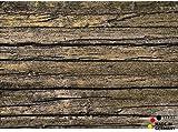 matches21 Fußabstreifer schmutzabsorbierend Schmutzfangmatte Holz alte Bretter 50x70 cm maschinenwaschbar bei 30°C