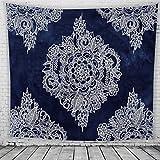 MIAO Tapisserie Dekoration Indische Mandala Zimmer Dekoration Bohemia Hippie Tapisserie Dekorative Stoff Bett Tuch Strand Tuch Polyester (Farbe : C, größe : 150x200cm)