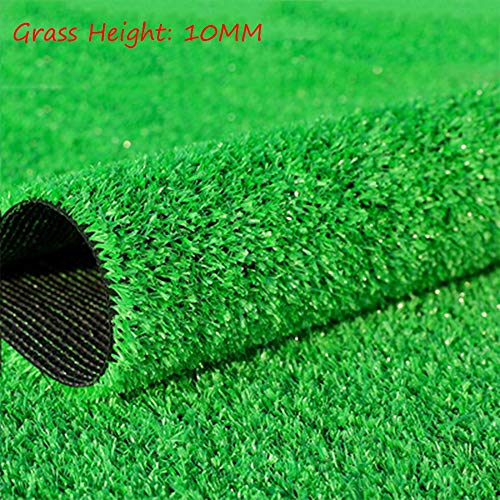 Artificial Lawn XIAODONG Rasenteppich 10MM Grashöhe Kunstrasen Wasserdicht Grün Kunstrasenmatte Breite 2m Grüner Dekorationsrasen (Size : 2 * 3m)