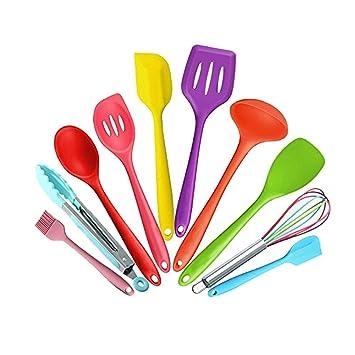 10pcs strumenti di cottura Set, Silicone Utensili della cucina ...