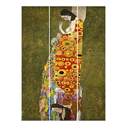 Bilderwelten Tende scorrevoli set - Gustav Klimt - Hope - 3 Pannelli, tenda a pannello scorrevole tenda a pannello incl. sistema di supporto, Tipo di montaggio: Supporto a parete, Misura (AxL): 250 x 180cm (3 pannelli da 250 x 60cm)
