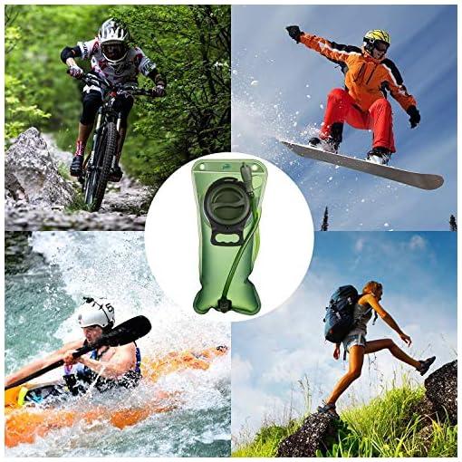 Hihill Sacca Idratazione, 2 litri Sacchetto dell'Acqua Capacità Water Bladder Portatile Sistema di Idratazione per Ciclismo, Escursionismo, Camminata