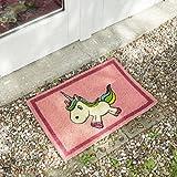 getDigital Einhorn Fußmatte / Türmatte | Top-Qualität: Aus 100% natürlichen Kokosfasern für gründliche Reinigung | 60x40cm, rosa, vollflächig bedruckt, für außen und innen