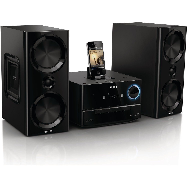 Philips MCM2000/12 Micro Chaine Lecteur CD/MP3/WMA avec Système d'Enceintes Bass Reflex et