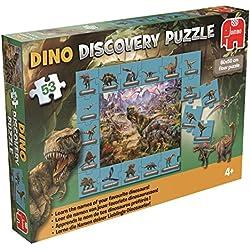 Disney - Jumbo Dino Descubrimiento, rompecabezas para aprender los nombres de los dinosaurios, 53 uds. [Holandés, Inglés, francés y alemán]