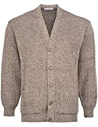 63f213cb8f562d Mens Knitted Cardigan Classic Style Cardigans V Neck Button Jumper Plain  Coloured