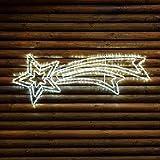 Estrella fugaz 120 cm de tubo luminoso, LED luz fría intermitente, estrella luminosa, figura navideña, luces de Navidad