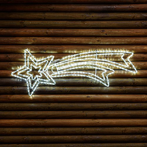 Stella cometa in tubo luminoso LED con Flash, 120 cm, led bianco freddo, stelle luminose, figure natalizie, luci di Natale