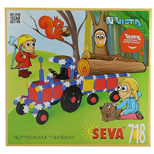 Preisvergleich Produktbild Seva Steckbaukasten 718 Teile Stecksystem Motorikspielzeug Steckspiel