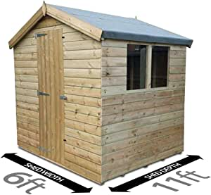 2.4m Shed Pent Shed Garden Shed Timber Shed 3.3m x 8ft Total Sheds 11ft