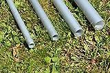 DEKOVALENZ Bodenanker aus Aluminiumrohr für Bali-Fahnen mit Teleskop-Stangen, Größe:30 mm x 995 mm