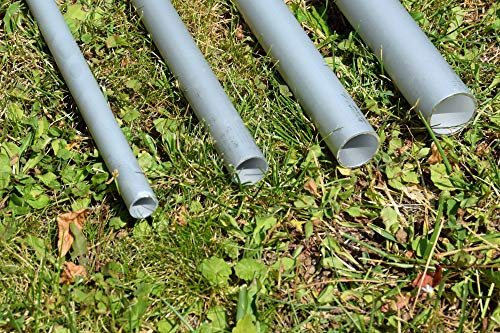 DEKOVALENZ Bodenanker aus Aluminiumrohr für Bali-Fahnen - Teleskop-Stangen, Größe:25 mm x 995 mm