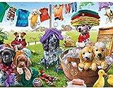 Murosn Puzzle 3D 1000 Pezzi Bambini 8 Anni Paesaggi Animali Arte Regalo Legno Adulto Giocattolo Decorazione Lavanderia per Cani