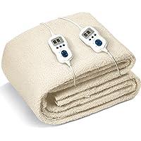 Scaldaletto Matrimoniale Termocoperta Johnson Relax 160 x 160 cm letto caldo in lana sintetica doppia programmazione