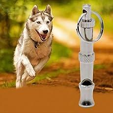 PnM Dog Pet Stainless Steel Dog Puppy Whistle Portable Ultrasonic Adjustable Sound Key Dog Training Whistle