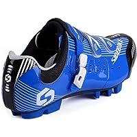 SIDEBIKE MTB Cycling Shoes Gentlemen Ladies Mountainbike Shoes 6.5-12 UK,Pls Choose One Size Larger Than Usual