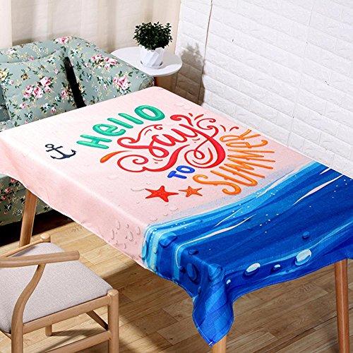 Nordique été dessin animé océan nappes naturel lin 3D Digital impression Table tissu maison décoration tissu couverture serviette , 60*60cm