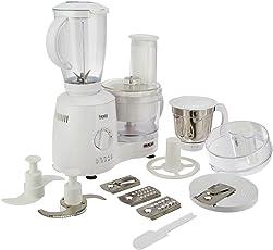 (CERTIFIED REFURBISHED) Inalsa Fiesta 650-Watt Food Processor (White/Grey)