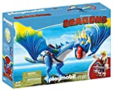 Playmobil Dragons Astrid et Tempete. La selle du dragon tempête est amovible, dimensions du dragons: 30x25x18cm. De 4 à 12 ans