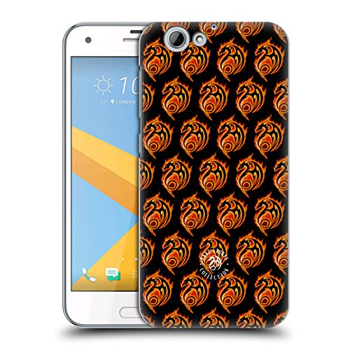 Official Anne Stokes Dragon Logo Pattern Fire Tribal Hard Back Case for HTC One A9s