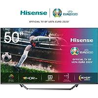 Hisense 50U7QF 126cm (50 Zoll) Fernseher (ULED, UHD, Quantum Dot, HDR 10+, DolbyVision, DolbyAtmos, Smart-TV, Local Dimming, WCG, USB-Recording, Ultra Slim Design, Mittelstandfuß) [Modelljahr 2020]