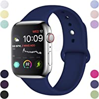Hamile Correa Compatible con Apple Watch 38mm 42mm 40mm 44mm, Correa de Repuesto de Silicona Suave para Apple Watch...