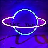 QiaoFei LED-Planeten-Neonlicht, dekorative Schilder, Wanddekoration, batterie- oder USB-betrieben, Neonschilder für Babys, Ki