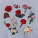 KING DO WAY 11pcs Stickerei Pfingstrose Rose Blumen Nähen Bügeln
