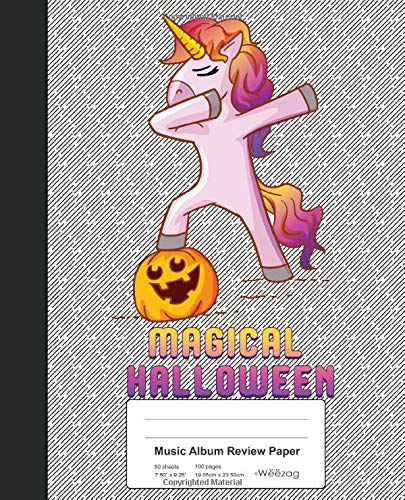 aper: Book Dabbing Unicorn Pumpkin Halloween (Weezag Music Album Review Paper Notebook, Band 178) ()