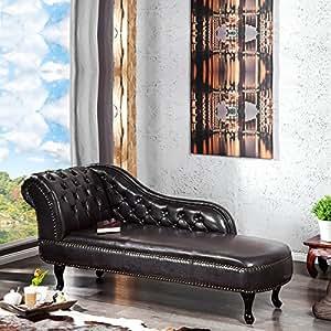 design recamiere royal chaiselongue aus kunstleder 170 cm sofa dunkelbraun k che. Black Bedroom Furniture Sets. Home Design Ideas