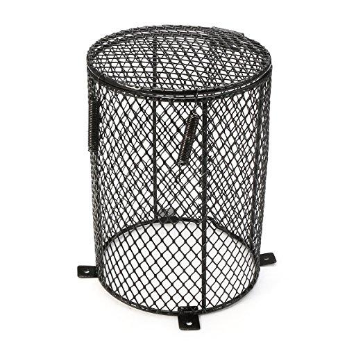 dDanke Leuchtmittel, rund Hitze Guard Schutz Käfig für Terrarium Lampe 12* 16cm (Schraube-lampen-farbtöne)