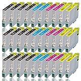 30 Druckerpatronen für EPSON WorkForce WF2010W WF2500 WF2510WF WF2520NF WF2530WF WF2540NF WF2540WF WF2630WF WF2650DWF WF2660DWF, kompatibel zu T1636 T1631 T1632 T1633 T1634