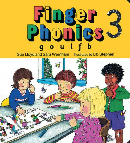 Finger Phonics book 3: in Precursive Letters (British English edition): G, O, U, L, F, B Bk. 3 (Jolly Phonics: Finger Phonics)