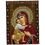 Baoblaze DIY 5D Diamond Painting Cross Stitch Craft The Madonna Holding Her Son