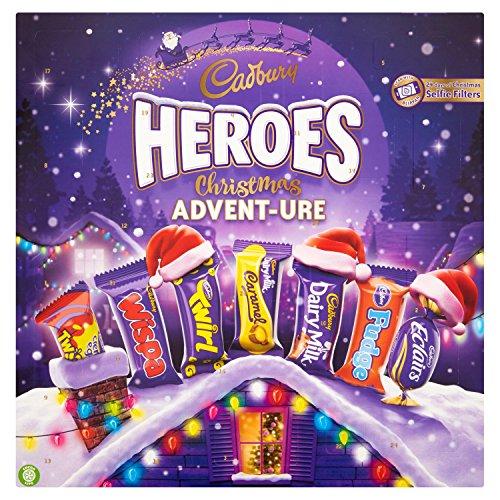 Cadbury Heroes Christmas Adventure Chocolate Advent Calendar, 232 g, Pack of 4