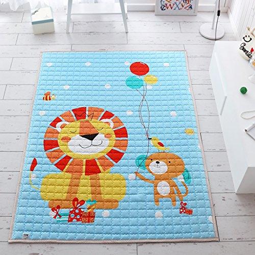 GJM Shop Bereich Teppich --- 100% Baumwolle Umweltschutz Krabbeldecke Für Babys Faltende Spieldecke Für Kinder Frühling Und Herbst Modelle Dünnschnitt Teppich 150 * 200 Cm --- Anti Rutschform Luxus Teppich ( Farbe : 8 ) (Frühling Halle)