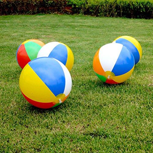 Colorful aufblasbare Beach Pool Ball 22,9cm zersetzung Air Stress Wasser Bildungs-Spielzeug, 5 Pcs ()