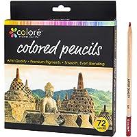 Colore Matite colorate – Set di 72 pastelli pre-temperati di alta qualità per disegnare e colorare – Ideali per la scuola, per adulti e bambini - 72 colori brillanti