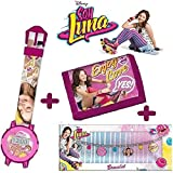 cartera y reloj digital SOY LUNA+ Pulsera Disney soy Luna