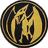 Mighty Morphin Power Rangers toppa (9cm) rosa moneta Power Ranger Patch ricamato ferro/cucire su Badge Souvenir DIY costume