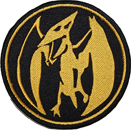 Rangers Aufnäher (9 cm) rosa Münze Power Ranger Patch bestickt Eisen/Nähen auf Badge Souvenir DIY Kostüm ()