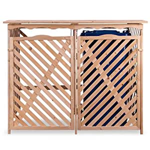 m lltonnenbox holz 2 tonnen m llverkleidung m llbox m lltonne box garten. Black Bedroom Furniture Sets. Home Design Ideas