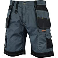 WrightFits Men Redhawk Holster Work Shorts Black, Grey & Khaki - Heavy Duty Safety Combat Cargo Summer Shorts - Multi…